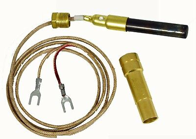 "Thermopile 36"" two leads with PG9 adapt for Majestic Gas Fireplace 750MV"