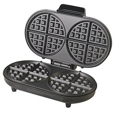Belgian Waffle Maker Iron Double Non Stick Kitchen Breakfast Cooking Machine