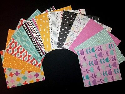 "Bright Colourful Scrapbooking/Cardmaking Papers *SUNBURST- 15cm x15cm (6"" x 6"")"