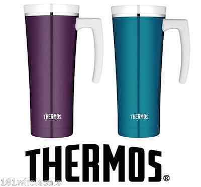 ❤ THERMOS 470ml STAINLESS STEEL TRAVEL MUG Insulated Cup Coffee Tea 2 DESIGNS