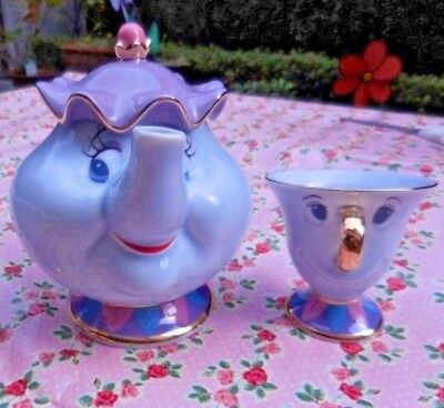 Tokyo Disneyland Limited Beauty and the Beast Mrs. Potts & Chip Tea Cup set