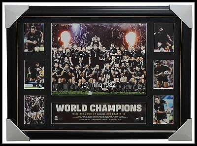 2015 World Cup Rugby Champions All Blacks L/e Tribute Collage Frame - Dan Carter