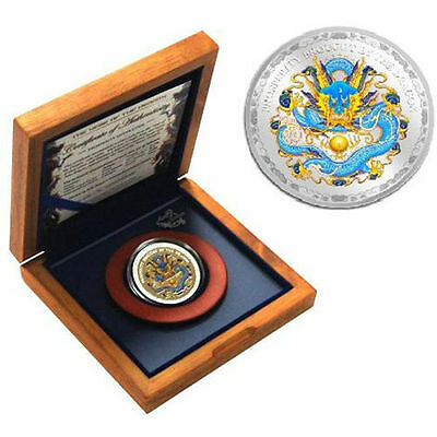 Cook Islands 2012 5$ The Year of the Dragon Prosperity 1 Oz Silver Proof coin