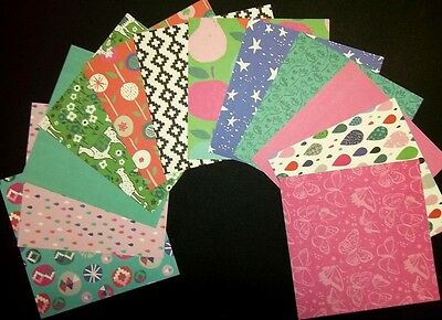 "Colourful Scrapbooking/Cardmaking Papers *DAYDREAM* - 15cm x15cm (6"" x 6"")"