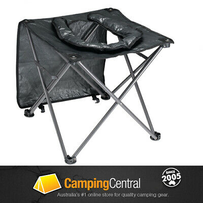 Oztrail Portable Camping Outdoor Toilet Chair Seat Stool Porta Loo Poti
