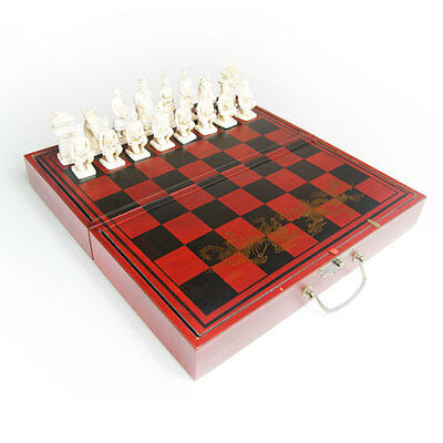 Dark Red/brown Wooden Chinese Chess Set