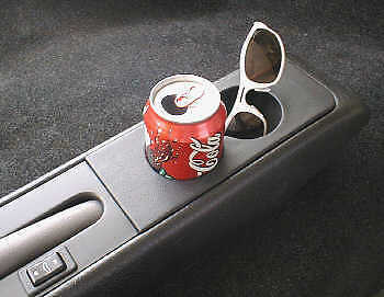Genuine black leather centre console cup holder to fit a Porsche 993