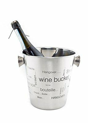 4 Quart Wine Ice Champagne Bucket Stainless Steel Cooler Chiller Container Drink
