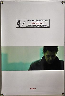 THE INSIDER (1999) Original Movie Poster 2 Sided DS 27x40 New Mint Condition