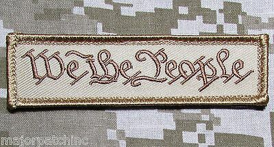 We The People Tab Usa Military Tactical Us Army Morale Badge Desert Hook Patch