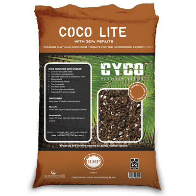 Cyco Platinum Series Coco Pearl with 30% Perlite - 50L | RHP Buffered