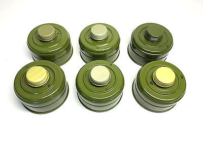 6 Soviet russian gas mask GP-5 filters 40mm filter respirator replacement 40mm