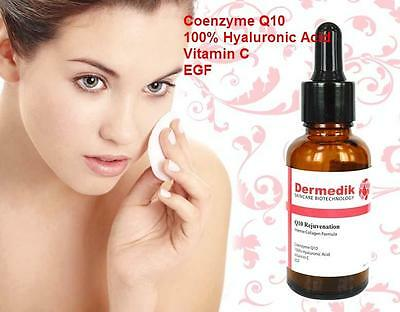Q10 COENZYME HYALURONIC ACID VITAMIN C EGF ANTI AGE WRINKLE COLLAGEN SERUM 30ml