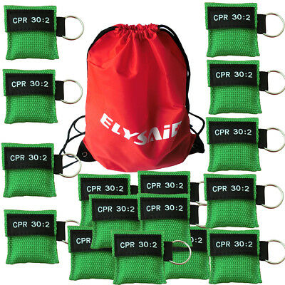 100 Cpr Mask Keychain Cpr Face Shield  Aed Green Writing Cpr 30:2