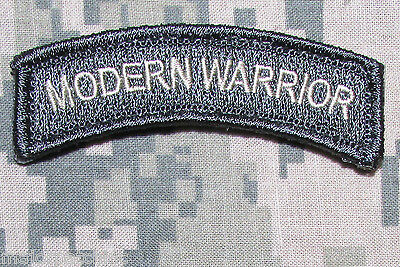 Modern Warrior Rocker Tab Army Tactical Military Morale Acu Light Hook Patch