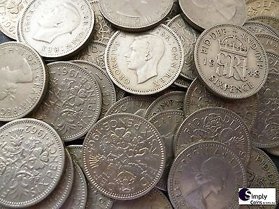 British Lucky Sixpence Coins  - 1947 - 1967 - Choose The Amount - Free P&p