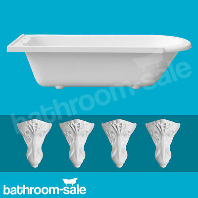 Norfolk Right Hand Traditional Roll Top Bath inc White Resin Feet | RRP: £639