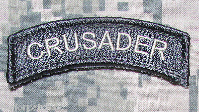 Crusader Rocker Tab Usa Army Christian Infidel Us Morale Acu Light Hook Patch