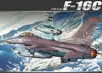 Academy 1/48 Plastic Model Kit F-16C FLYING RAZORBACKS 12204 NIB