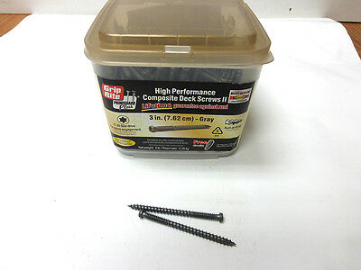 "Grip Rite #9 X 3"" High Performance Composite Deck Screws 2 T-20 Star Gray 5Lb"