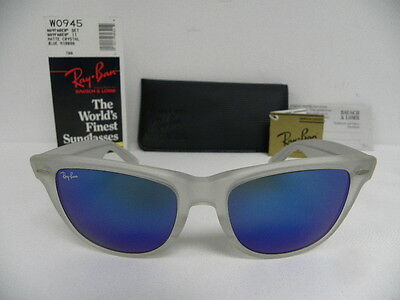 New Vintage B&L Ray Ban Wayfarer II Matte Crystal Frosted Blue Mirror W0945 NOS