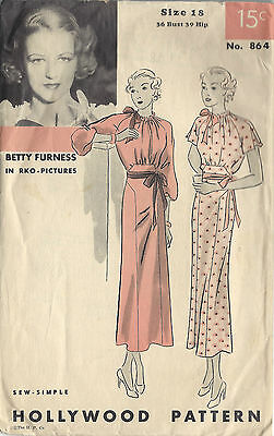 140 HOLLYWOOD STAR GOWN Pattern for Fashion Dolls
