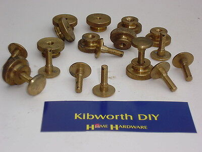 pack 5 x 2BA BRASS KNURLED TERMINAL BOLTS WITH NUTS thumb screw screws radio tv