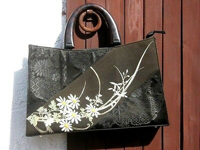 Vintage Japanese Kimono Hand Bag Hand Purse Created In Thailand Free Shipping