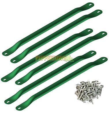 DIY Monkey Bars Kit 6 Rungs with Hardware GREEN Playground Cubby house kids fun