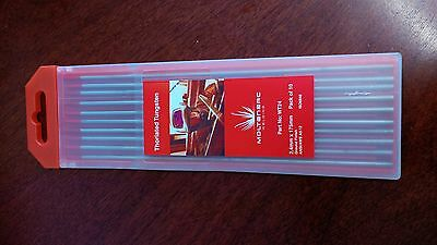 Tig Tungsten Electrode Thoriated 2% 1.6mm 175mm Red Tip (10 Pack) WT16