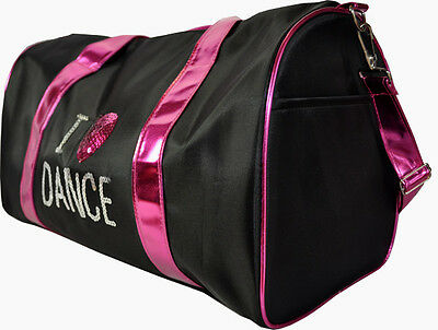 NEW Spencil Black Sequinned Ballet I Love Dance Sport Bag