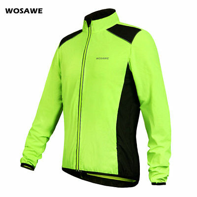 Men Water Resistant Cycling Jacket Breathable Lightweight High Visibility Jacket
