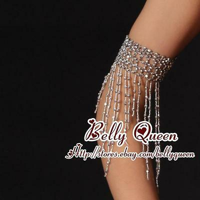 Belly Dance Costume Accessory beads Stretch 2armlets 2Colors avail.