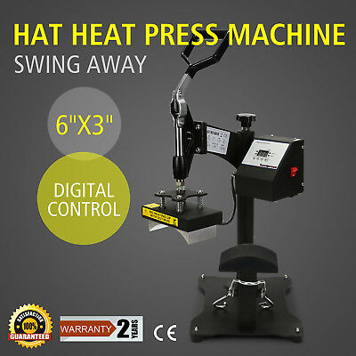 "6"" X 3"" Heat Press Machine Hat Ball Cap Transfer Swing Away Sublimation"