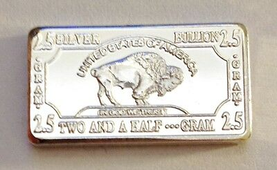"2.5 Gram ""Buffalo"" Finished in 999 Fine Silver (no Capsule) b."