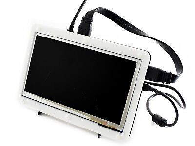 """7"""" Display with Case 800×480 Capacitive Touch Screen HDMI LCD for Raspberry Pi"""