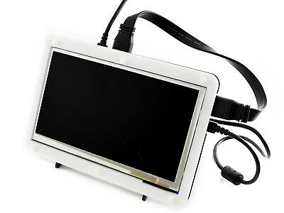 "7"" HDMI LCD with Case 800×480 Capacitive Touch Screen for Raspberry Pi/BB Black"