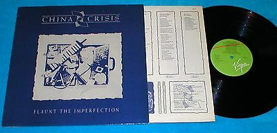 China Crisis Spain Lp Flaunt The Imperfections 1985 Electronic Rock Synth Pop
