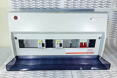 Wylex 15 way Consumer unit 17th Edition with main switch+2 RCD (D-2002)