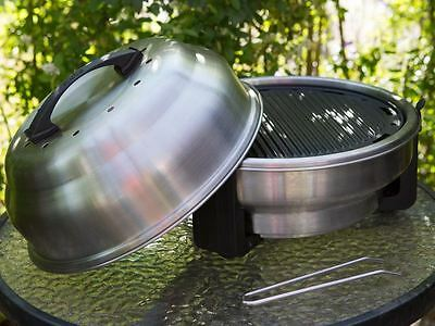 Charcoal BBQ Camping Roaster Portable Barbecue - SAfire (Brush Polished)