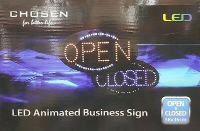 Chosen Big OPEN & CLOSED Neon Signs Shops Stores & Restaurants LED Lights 2 in 1