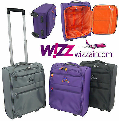 Wizz Air Cabin Case Hand Luggage Trolley Bag Lightweight fits in 42x32x20cm
