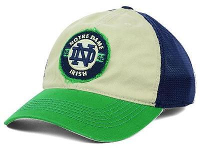 NEW University of Notre Dame Fighting Irish Hat Cap Mesh Back Stretch Fitted *2G