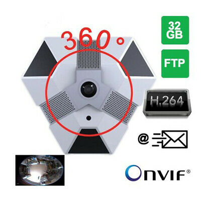 Telecamera Dome Ip Videosorveglianza Panoramica 360° Hd Onvif Mp Motion Detect