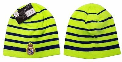 c756e9fef46 Real Madrid FC Fitted Beanie Winter Hat Cap New W Tags OSFM K1Y28 Neon  Yellow