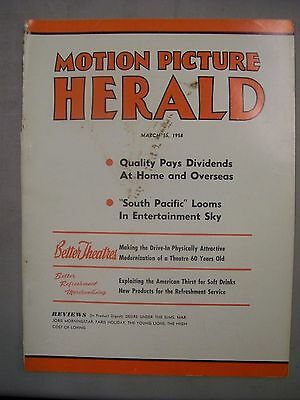 Motion Picture Herald Magazine March 15 1958 Big Box Office Attraction Dracula