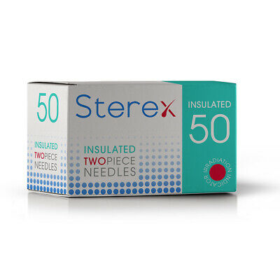 Sterex Two Piece Insulated Needles - Short 002 - Box of 50