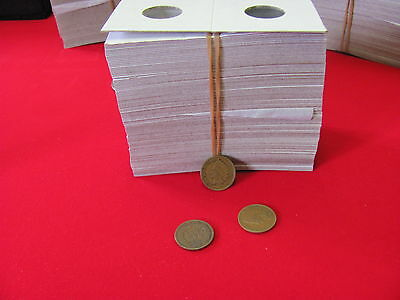 "100- CENT Size- 2X2 ""COWENS"" -Cardboard/Mylar Coin Holders- Free shipping!"