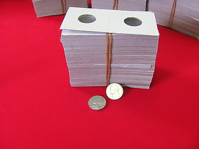 "100- NICKEL Size- 2X2 ""COWENS"" -Cardboard/Mylar Coin Holders- Free shipping!"