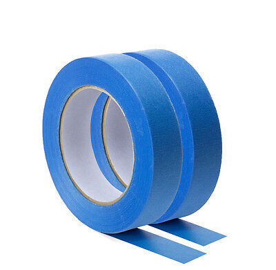 8 Rolls-UV-Resistant-Blue-Painters-Clean-Peel-Masking*Tape-25mm-x-50M**